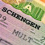 Schengen visa — Stock Photo