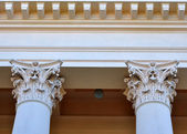Corinthian capitals of the columns — Stock Photo