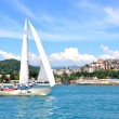Yachting in Sochi resort, Russia — Stock Photo #10534253