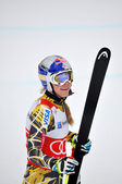 Champion skier from USA Lindsey Vonn — Stock Photo