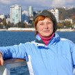 Woman on the cruise ship - Stock Photo