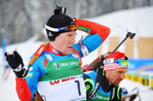 Cup of Russia on biathlon in Sochi on February 10, 2012. — Stock Photo