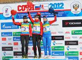 кубок россии по биатлону в сочи на февраль 10, 2012. — Стоковое фото