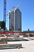 ソチ市内中心国際オリンピック大学の建設 — ストック写真