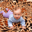Baby on a blanket spotted — Stock Photo #10241197