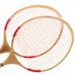 Badminton racket on a white background — Stock Photo #10241602