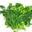 Dill and parsley isolated on a white background — Stock Photo #10246162