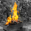 Burning brazier — Stock Photo