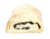Strudel with raisins — Stock Photo