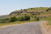 Road in the mountains. Of Kazakhstan. Mashat — Stock Photo