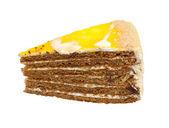 Orange cake isolated on white background — Stock Photo