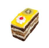 Оранжевый торт с киви — Стоковое фото