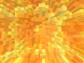 An abstract background with cubes and orange color — Stock Photo