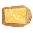 Cheese with bread — Stock Photo