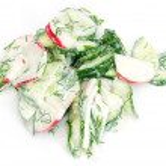 Delicious cucumber salad radishes — Stock Photo #8310607