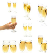 Champagne glasses on a white background — Stock Photo