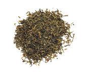 Yeşil çay üzerinde beyaz izole — Stok fotoğraf