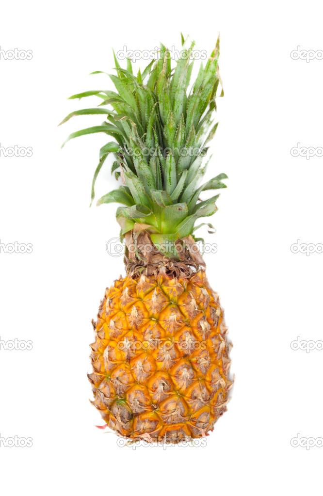 Ripe pineapple isolated on white — Stock Photo #8310586