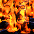 Hot red and yellow fire flames — Stock Photo