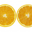 Oranges on white background — Stock Photo