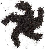 Black tea on a white background — Stock Photo
