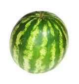 Wielki arbuz. na białym tle — Zdjęcie stockowe