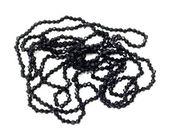 černý náhrdelník s ilolated malé diamanty na bílé backgro — Stock fotografie