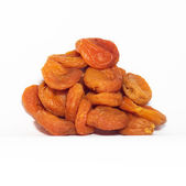 Dried apricots on white — Stock Photo