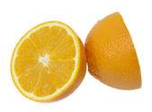Orange auf weißem hintergrund — Stockfoto