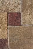 Unshaped stone wall pattern,wall made of rocks — Stock Photo