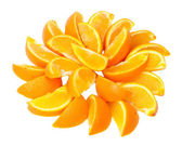 Bit of the orange decomposable beautifully around — Stock Photo