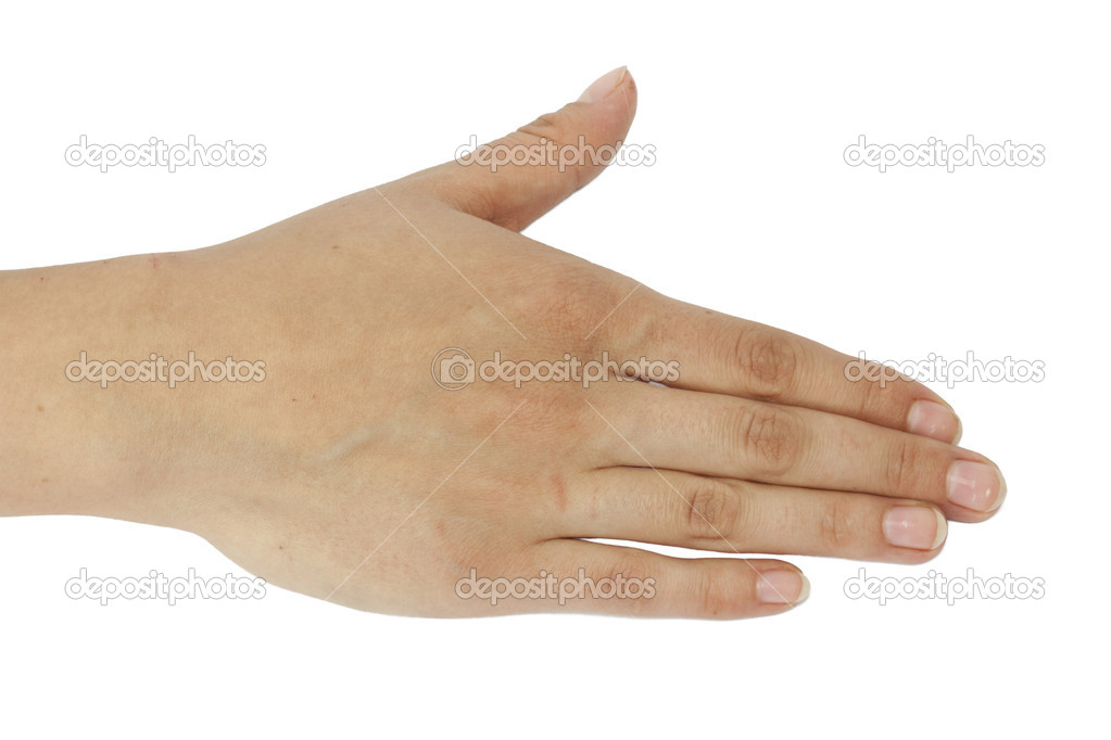 Hand on white background — Stock Photo #9007333
