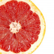 Stock Photo: Red grapefruit close-up macro shot