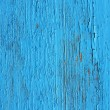Closing on blue wooden panels of the fence — Stock Photo
