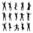 Dancing silhouettes — Stock Vector #10137377