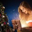 Beautiful christmas woman - Stock Photo