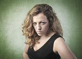 Aggressive woman — Stock Photo