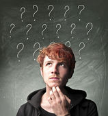Many questions — Stock Photo