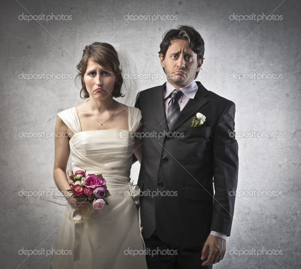 Portrait of a sad maryring couple — Stock Photo #10251562