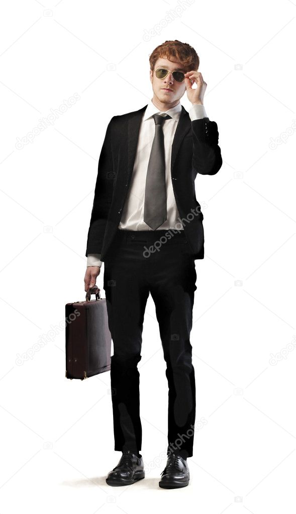 Isolated smiling young businessman — Stock Photo #10516235
