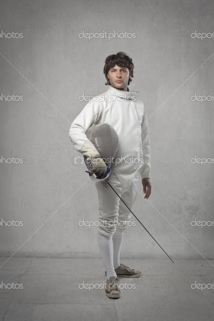 Portrait of a young fencer  Stock Photo #10657588