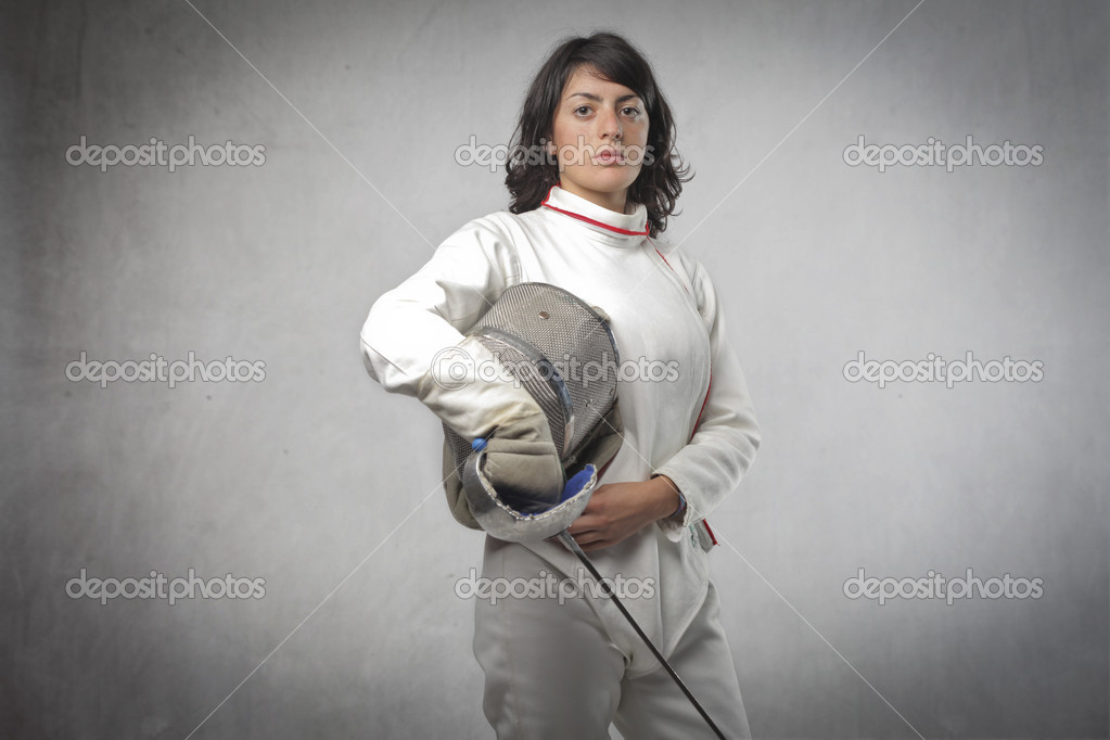 Young female fencer — Foto Stock #10657717