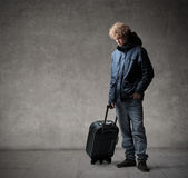 Lonely traveller — Stock Photo