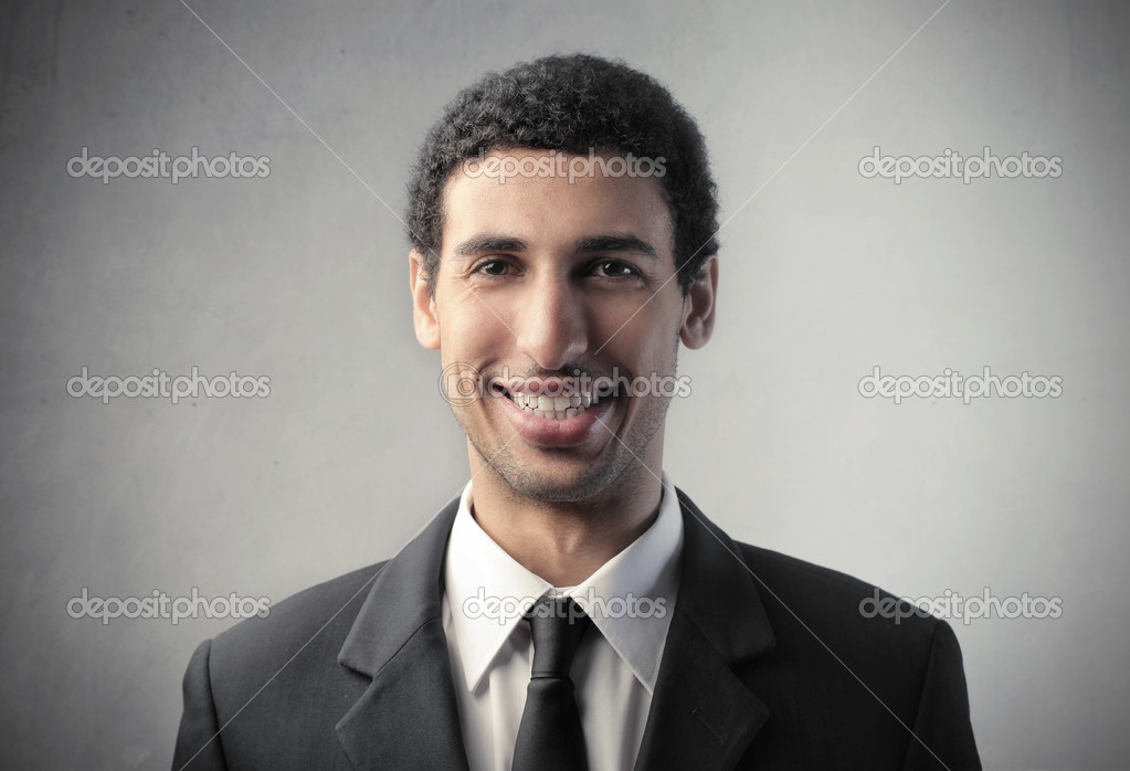 Smiling african businessman — Stock Photo #8847334