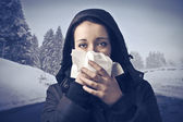Winter flu — Stock Photo