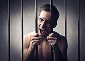 Aggressive prisoner — Stock Photo