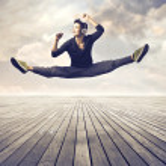 Skilled dancer — Stock Photo