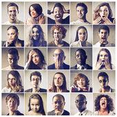 Samenstelling van de verschillende gevoelens te uiten — Stockfoto