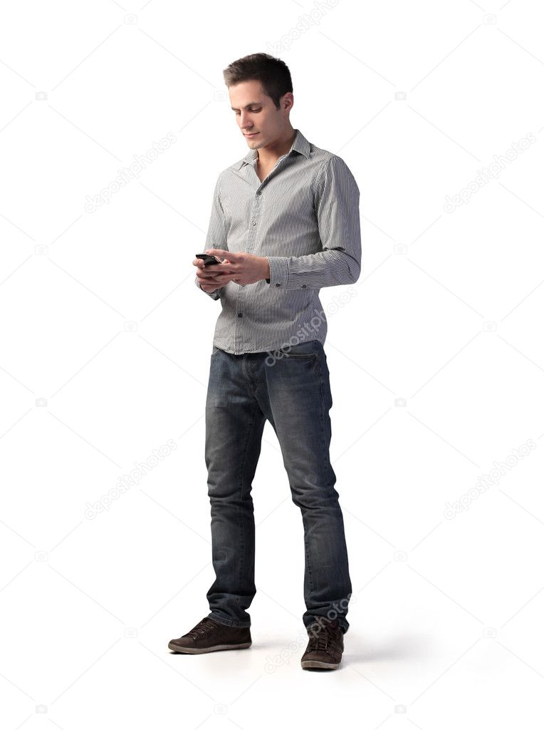 Young man using a mobile phone — Stock Photo #9209624