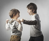 Fighting siblings — Stock Photo